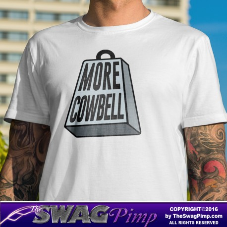 More Cowbell Funny Music Shirt (Silver)