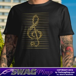 Treble Clef Pulse Gold T-Shirt