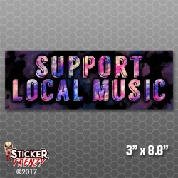 Support Local Music Bumper Sticker (Indie)