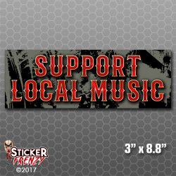 Support Local Music Bumper Sticker (Punk)