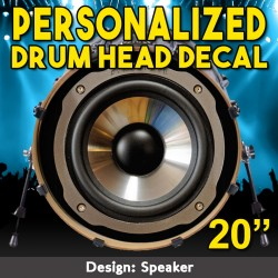 Drum Head Decal 20 Inch