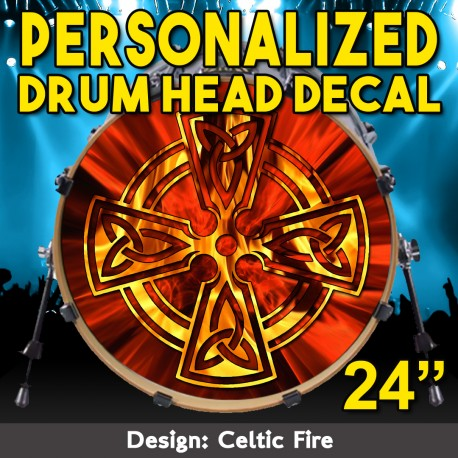 Custom Bass Drum Head Decal 24 Inch