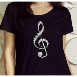 Treble Clef Bling Shirt